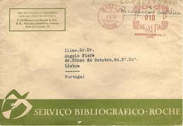"Switzerland 1954 Basel St Clara Meter Hasler ""F88"" F. Hoffmann-La Roche Drugs Pharmacy Cover - Farmacia"