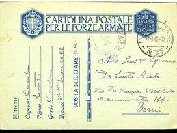 SP41 ANNULLO  POSTA MILITARE  27,   , CARABINIERE  , CARTOLINA IN  FRANCHIGIA   ,1941 - Posta Militare (PM)