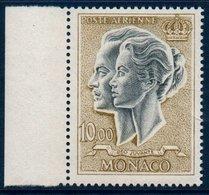 MON 1966/71 Couple Princier Le 10FR   N°YT PA90   ** MNH  Bord  De Feuille - Poste Aérienne