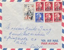 ST. DENIS / REUNION  -  1959 ,  Luftpost Nach Basel / Suisse - Reunion Island (1852-1975)