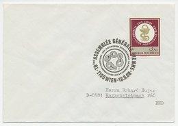 Cover / Postmark Austria 1968 Fermentation - Scienze