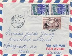 ST. DENIS / REUNION  -  1960  ,  Luftpost Nach Basel / Suisse - Reunion Island (1852-1975)