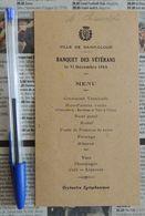 Menu Du 31 Décembre 1944 Du Banquet Des Vétérans De La Ville De Saint-Cloud - Menus