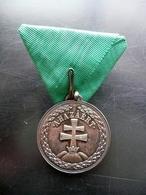 Medaglia Argento Di Merito Decorazione Ungheria A Hazaert 1922 Croce Patriarcale - Non Classificati