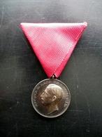 Medaglia D'Argento Per Merito Esercito Bulgaria Primo '900 Originale - Non Classificati