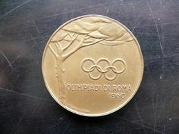 Medaglia In Bronzo Olimpiadi Di Roma 1960 Merzagora Teodoforo Originale - Tokens & Medals