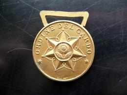 Medaglia In Bronzo Ordine Del Cardo Benemeriti Spiritualità Originale - Jetons & Médailles