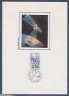 = Encart Double Europhila 91 Orléans 4-5.mai.1991  U.P.P.T.T. Timbre 2697 Europa Satellite De Télévision Directe - Marcophilie (Lettres)