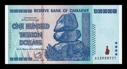Zimbabwe 100000000000000 100 Trillion Dollars 2008 Pick 91 SC UNC - Zimbabwe