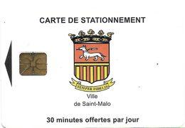 CARTE DE STATIONNEMENT A PUCE CHIP CARD VILLE DE SAINT-MALO 35 ILLE ET VILAINE - Francia