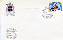 REYKJAVIK UTGAFUDAGUR STRAUMOND HISTRIONICUS 1977 FDC - NTVG. - 1944-... República