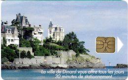 CARTE DE STATIONNEMENT A PUCE CHIP CARD VILLE DINARD 35 ILLE ET VILAINE - Francia