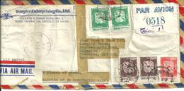 SCRUFFY AIRMAIL COVER FROM CHINA TO ENGLAND THINK 1972 - China