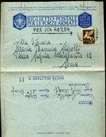 SP44 ANNULLO  POSTA MILITARE 88  16 COMP. CHIMICA , FRONTE RUSSO, BIGLIETTO IN  FRANCHIGIA   ,1942 - 1900-44 Vittorio Emanuele III