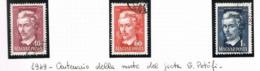 UNGHERIA (HUNGARY)  -  SG  1058.1060   -  1949  S. PETOFI, POET (COMPLET SET OF 3)    - USED° -  RIF.CP - Usati