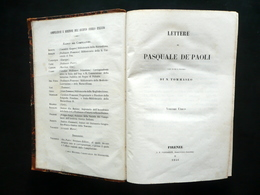 Lettere Di Pasquale De'Paoli Tommaseo Vieusseux Firenze 1846 Corsica Storia - Livres, BD, Revues