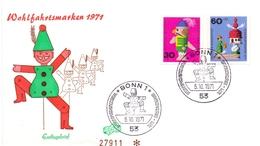 WOHLFAHRTSMARKEN 1971 BONN FDC   (GENN201047) - Giochi