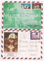 (CdC) Polinesia Francesa, Sobres (2) Nativos 1 - Polinesia Francesa
