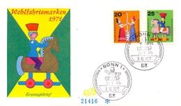 WOHLFAHRTSMARKEN 1971 BONN FDC   (GENN201048) - Giochi