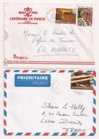 (CdC) Polinesia Francesa, Sobres (2) Papeete Tahiti Y Vainille - Polinesia Francesa