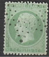 1862 N° 20 Napoléon étoile évidée - 1862 Napoleon III