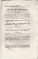 Bulletin Des Lois 828 De 1841 Ventes Aux Enchères Marchandises Neuves - Emprunt Départements Et 13 Villes - Décrets & Lois