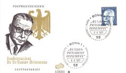 DR. GUSTAV HEINEMANN 1971 BONN FDC   (GENN201050) - Celebrità