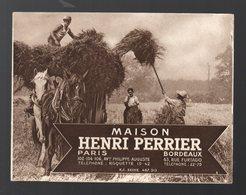 (matériel Agricole) Dépliant HENRI PERRIER ( Bordeaux Et Paris)  (PPP21462) - Reclame