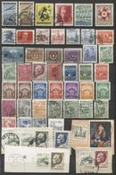 54 Zegels Restant Verzameling - Zie Scan / 54  Timbres Restant D'une Collection - Dubbels - 11 Zegels Op Fragment - Ohne Zuordnung