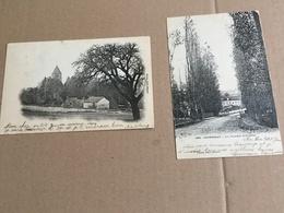 2 Cartes Postales Affranchies, 1903, Courtenay (avec Correspondance) - Non Classificati