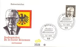 DR. GUSTAV HEINEMANN 1971 BONN FDC   (GENN201051) - Celebrità