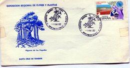 EXPOSICION REGIONAL DE FLORES Y PLANTAS FAUNA HIGUERA DE LAS PAGODAS 1982 FDC - NTVG. - 1931-Hoy: 2ª República - ... Juan Carlos I