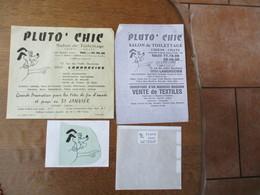 LANDRECIES  PLUTO' CHIC SALON DE TOILETTAGE CHIENS ET CHATS 12 RUE DES VIEILLES BOUCHERIES PUBLICITE - 1950 - ...