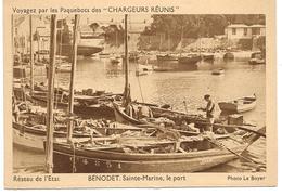 29 - BENODET Sainte Marine, Le Port - Publicité Des Chargeurs Réunis - Bénodet