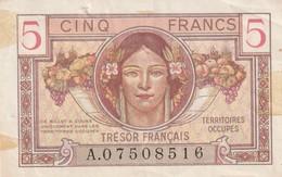 France Billet De 5 Francs Du Tresorsérie Quelques Taches Et Et Froissure , Dans Son Ju - Tesoro