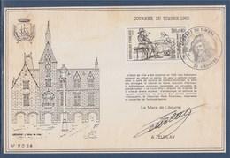 = Pochette Journée Du Timbre à Libourne 26 Février 1983 N°2258, Ensemble Numéroté 0038 - Poststempel (Briefe)