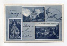 Vicenza - Saluti Da Monte Berico - Bel Timbro A Targhetta - Cartolina Multipanoramica - Viaggiata Nel 1954 - (FDC19537) - Vicenza