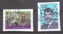 España 2020 - 2 Sellos Usados Y Circulados-Rey Felipe VI Y Provincia De A Coruña-Espagne Spain Spanien Spagna - 2011-... Usados