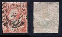 Allemagne, état Allemand, Saxe N°11 Oblitéré, Sachsen, Qualité Beau - Saxony
