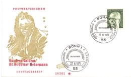 DR. GUSTAV HEINEMANN 1971 BONN FDC   (GENN201052) - Celebrità