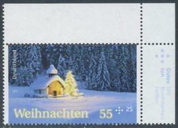 !a! GERMANY 2012 Mi. 2961 MNH SINGLE From Upper Right Corner -Christmas - BRD