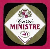 Etiquettes De Fromage.   Carré  Ministre.   36B.   Neuve. - Cheese