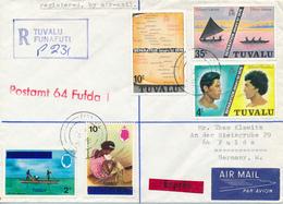 TUVALU /  FUNAFUTI  - 1976 ,   R-Brief Nach FULDA / DE - Tuvalu (fr. Elliceinseln)