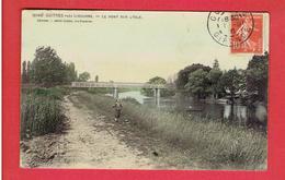 GUITRES PRES LIBOURNE 1910 LE PONT SUR L ISLE CARTE COLORISEE EN BON ETAT - France