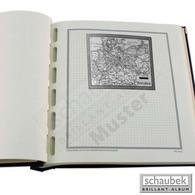 Schaubek Briefmarkengeographie Geographie-Kartenblatt Schwarz-weiß AF08-KBS - Francobolli