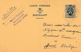 Wolkrange ,( Arlon ), Entier Postal  , Publicité Pierre François , Menuisier - Ebéniste - Arlon