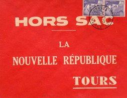 Gandon Lettre à 10 F Hors Sac Du 9/11/1953 Tarif Imprimés Ordinaires 5 F + Urgents 5 F - Storia Postale
