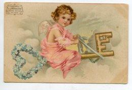 ANGES 064 Petit Ange Chevauchant Une Clef D'Or Dans Le Ciel 1900  Dos Non Divisé - Anges