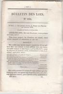 Bulletin Des Lois 832 De 1841 Budget Des Dépenses De L'exercice 1842 - Décrets & Lois
