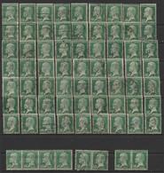 Série PASTEUR LOT DE 71 N° 170  Obl - 1922-26 Pasteur